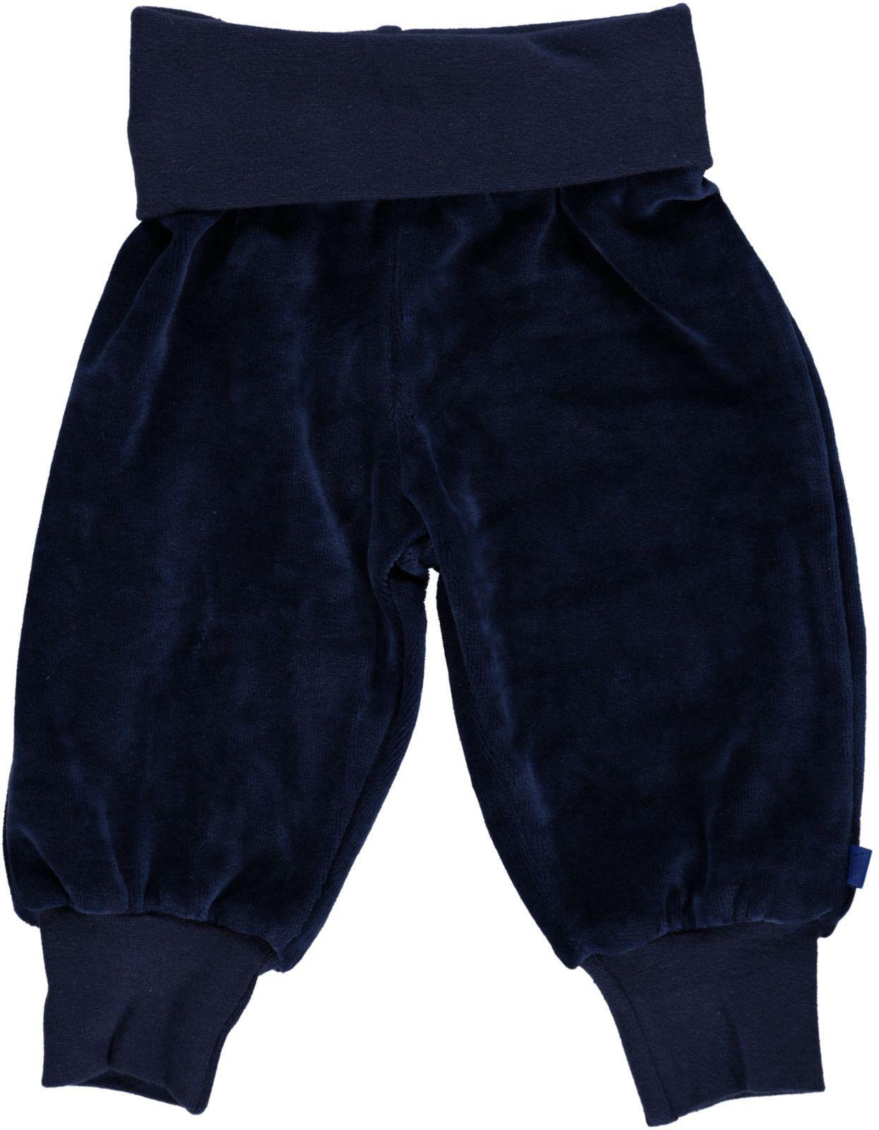 Småfolk - Velvet Baby Waistband Pants - Medieval Blue