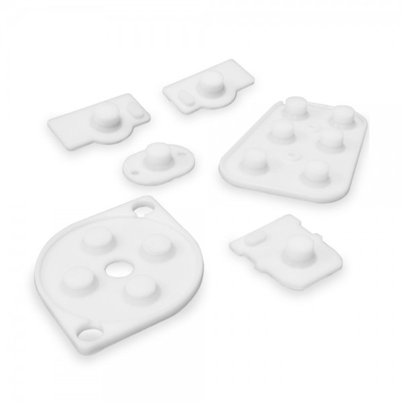 Zedlabz conductive rubber pad button contacts kit for nintendo 64 controller (n64)