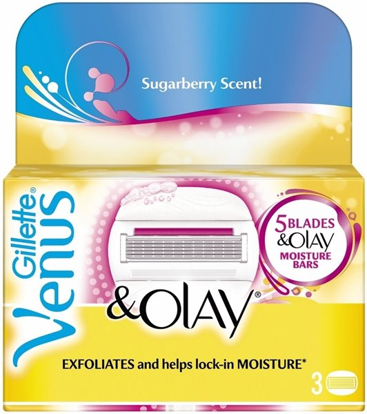 Gillette - Venus + Olay Blades Sugarberry Scent 3 Pcs