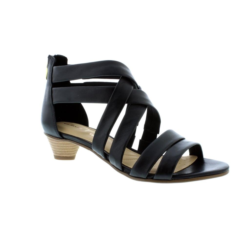 Buy Clarks Mena Silk - Black Leather