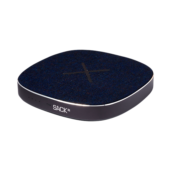 SACKit CHARGEit - Power Bank & Wireless Charger ( Navy )