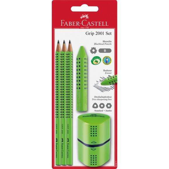 Faber-Castell - Grip 2001 - Pencil Set - 5 Parts - Lime (580071)