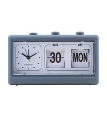 House Doctor - Retro Clock w. Alarm and Calendar - Blue (MGEA0400)