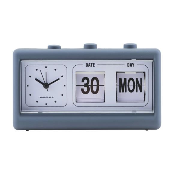 House Doctor - Retro Clock w. Alarm and Calendar - Blue (MGEA0400)