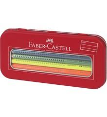 Faber-Castell - Jumbo Grip Malset Neon & Metallic im Metalletui, 11-teilig (110940)