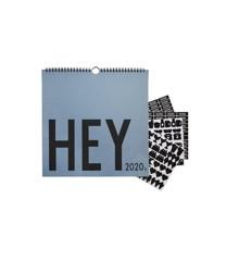 Design Letters - Hey Væg Kalender 2020 - Blå