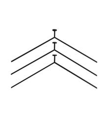 Nichba-Design - MagHang 03 Bøjler - Sort