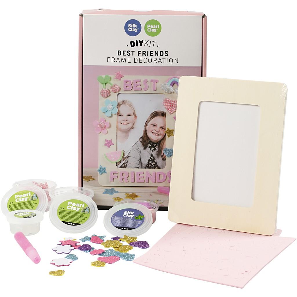 DIY Kit - Beste Freunde - Materialset Rahmendeko Set