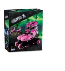 Rulleskøjter - Inliners Justerbar Størrelse 32-35 - Pink (60055)