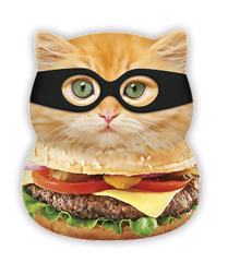 Squishies - Large - Burger Cat