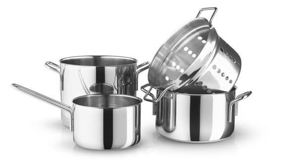 Eva Trio - Stainless Steel Collection Box Set with 3 Pot (202350)