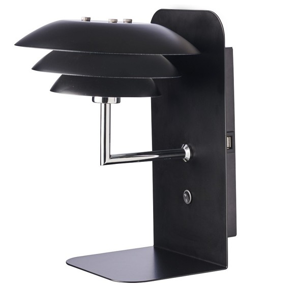 Dyberg-Larsen - DL20 USB Shelf With Lamp - Black