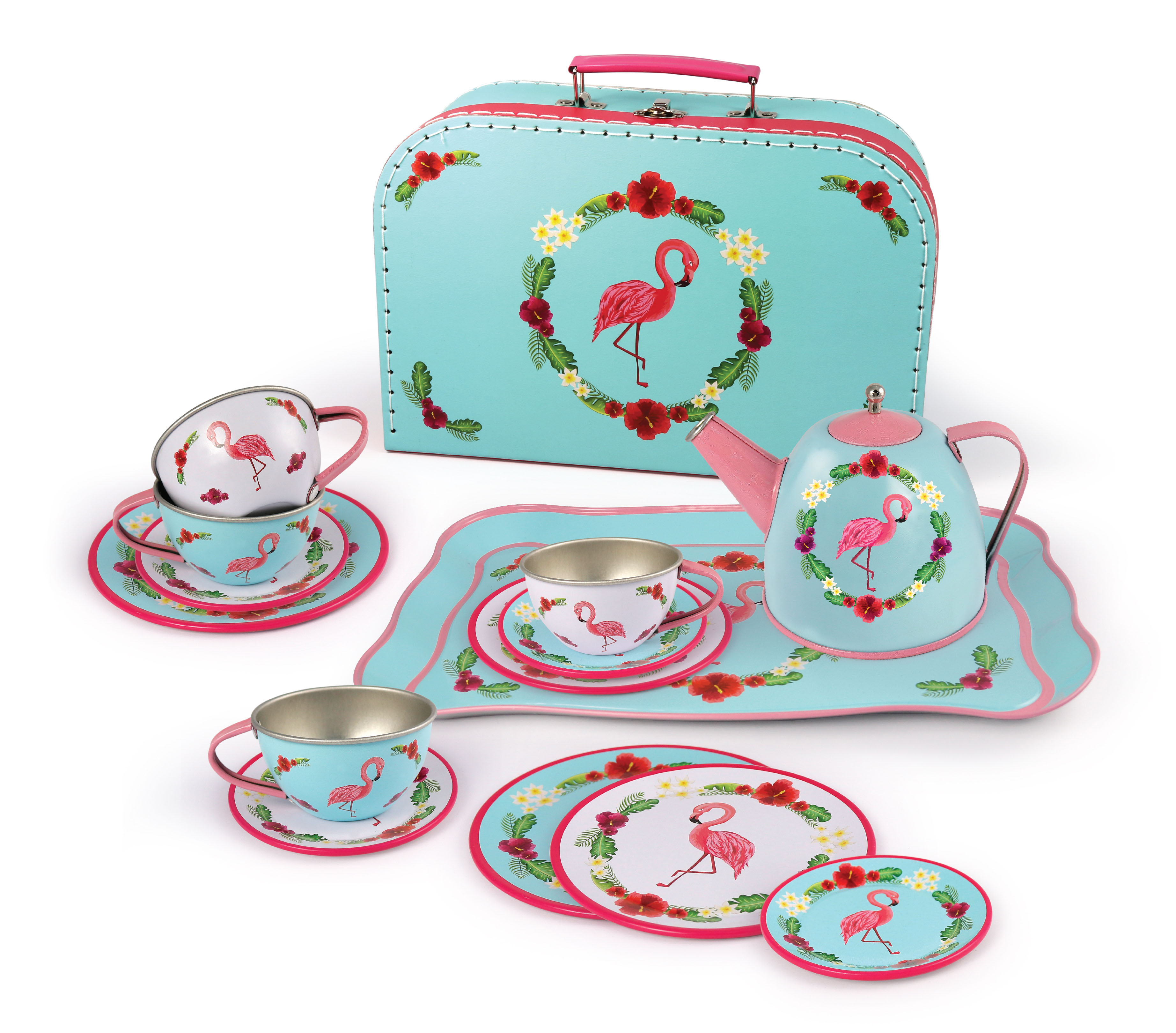 Magni - Tea set Flamingo in tin, 15 pcs (2940)