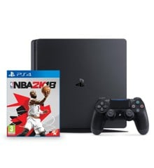 Playstation 4 Slim Console 500GB  - NBA 2K18 (Nordic) Bundle