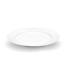 Pillivuyt - Plissé Tallerken Flad - Ø26 cm - Hvid