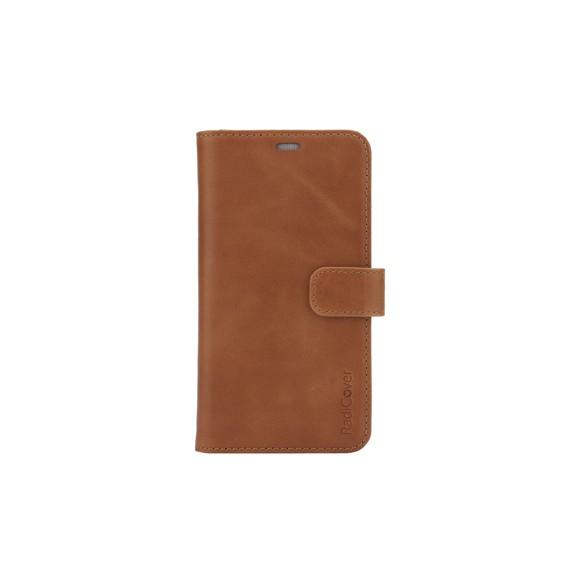RadiCover - Strålingsbeskyttelse Mobilewallet Læder iPhone 11 2in1 Magnetskal (3-led RFI ) - Brun