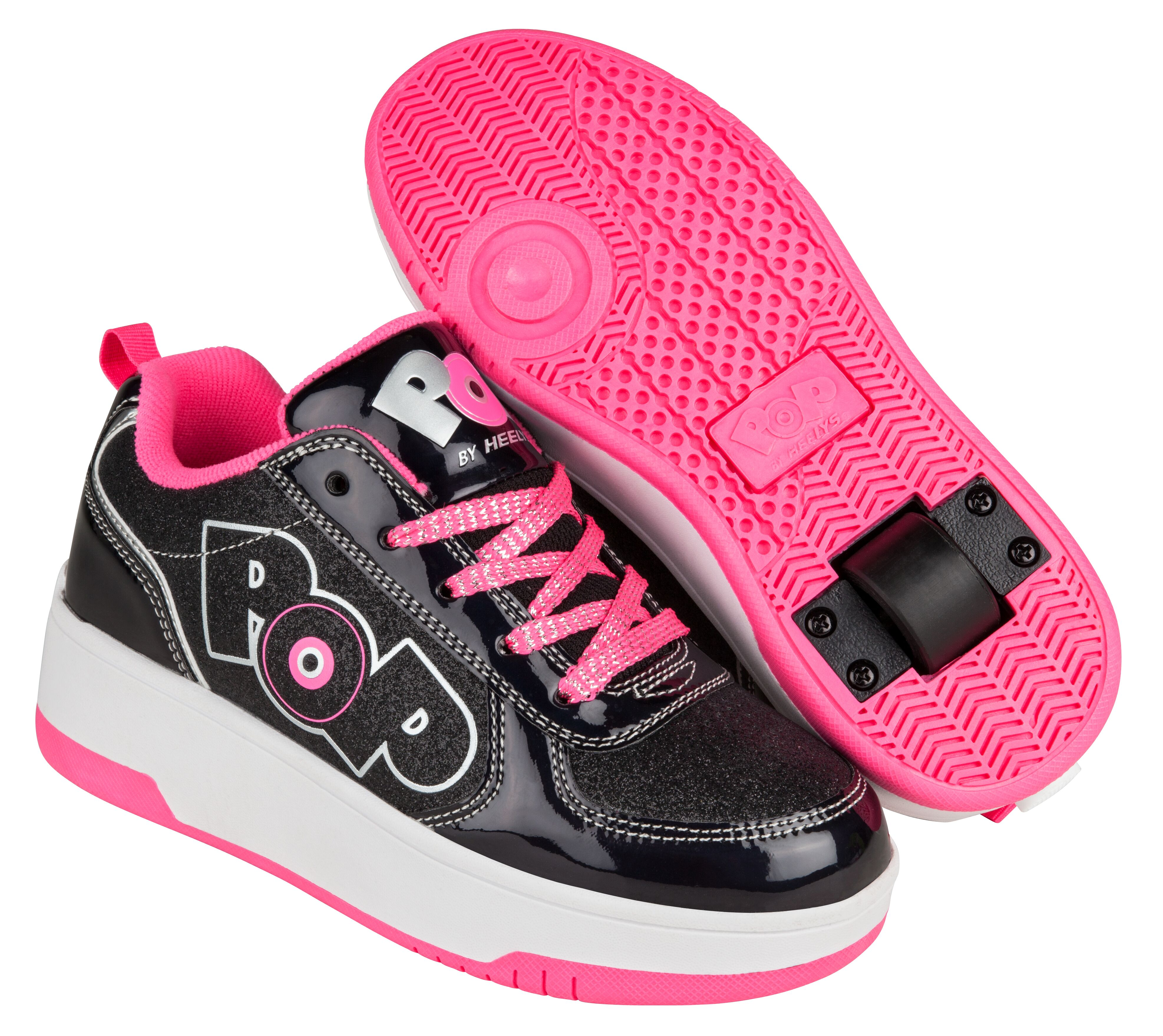 Heelys - Strike - Black Sparkle/Black Holo/Pink - Size 31 (POP-G1W-0034)