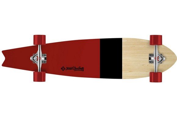 Streetsurfing Fishtail 42 Line Up 06-01-012-2, Unisex, Red,