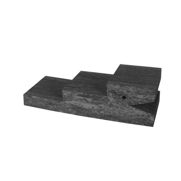 bObles Krokodille - Mørk grå marmor