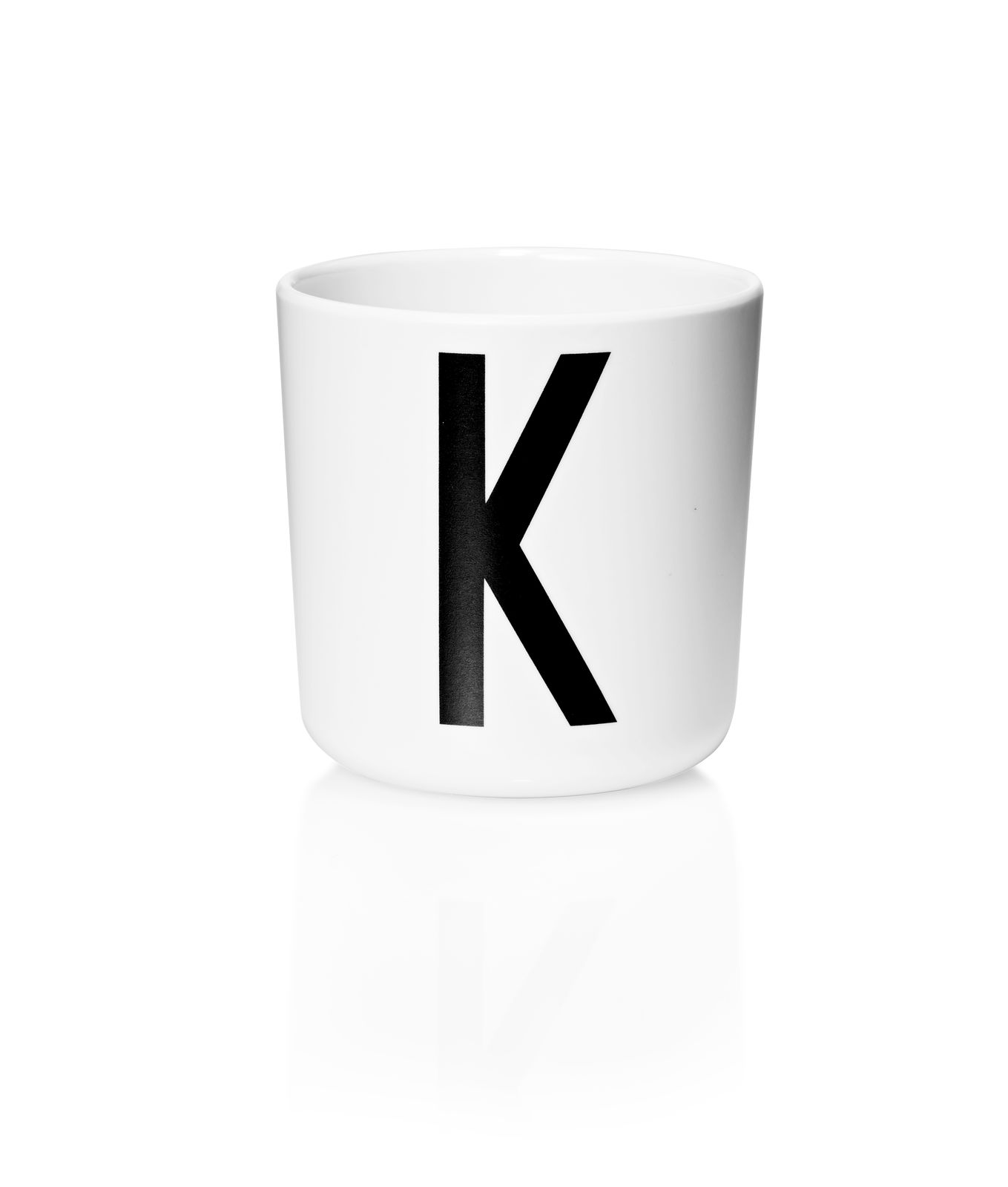 ​Design Letters - Personal Melamine Cup K - White (20201000K)