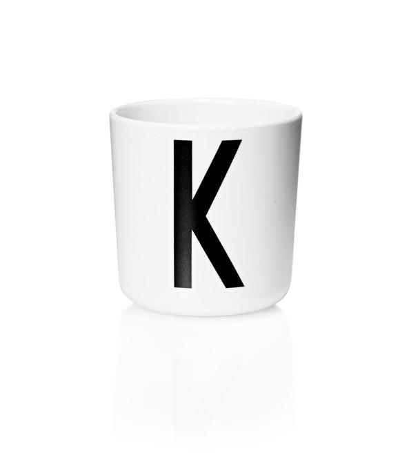 Design Letters - Personal Melamine Cup K - White (20201000K)