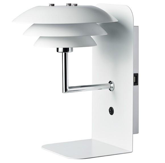 Dyberg-Larsen - DL20 USB Shelf With Lamp - White