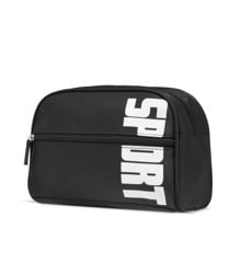 Studio - Mens Washbag w. White Text - Black
