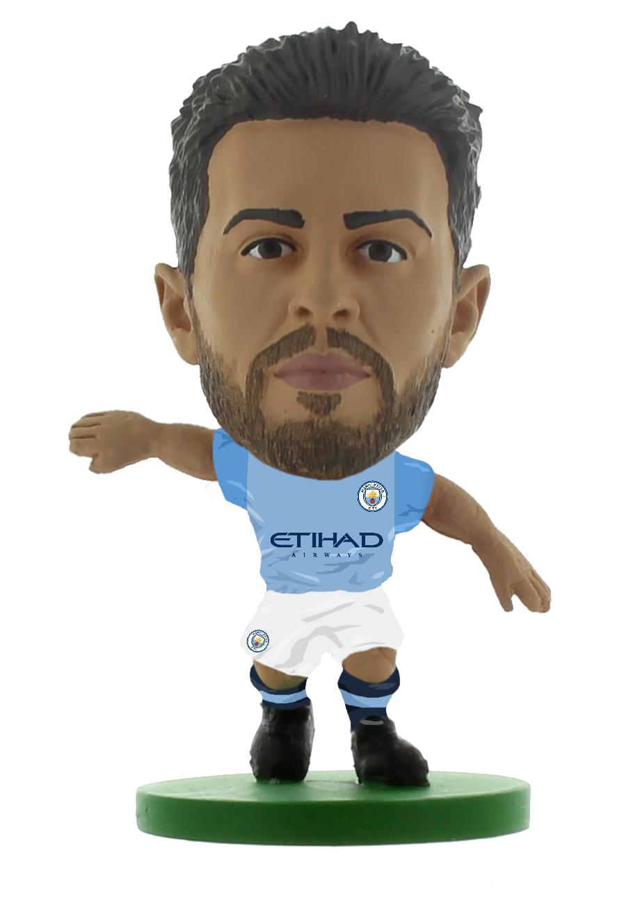 Soccerstarz - Man City Bernardo Silva - Home Kit (2020 version)