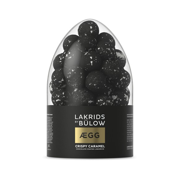 Lakrids By Bülow - EGG Påskeæg Crispy Karamel Chokolade Overtrukket Lakrids 2019 300 g