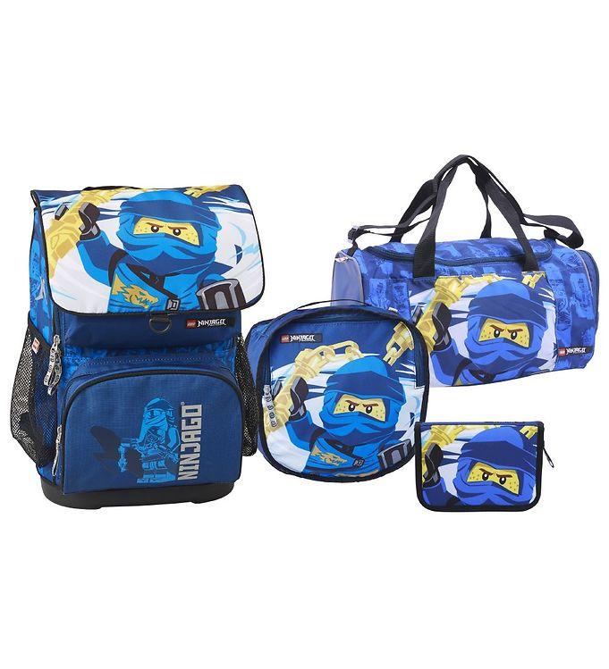 LEGO - Optimo School Bag Set (4 pcs) - Ninjago - Jay of Lightning (20177-2002)