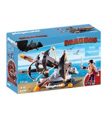 Playmobil - Dragons - Eret med 4 Skuds Ild Ballista (9249)