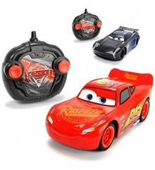 Disney Biler - Dobbelt Pakke R/C McQueen og Jackson Storm 1:24