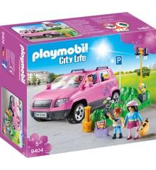 Playmobil - Familie Bil med Parkerings Plads (9404)