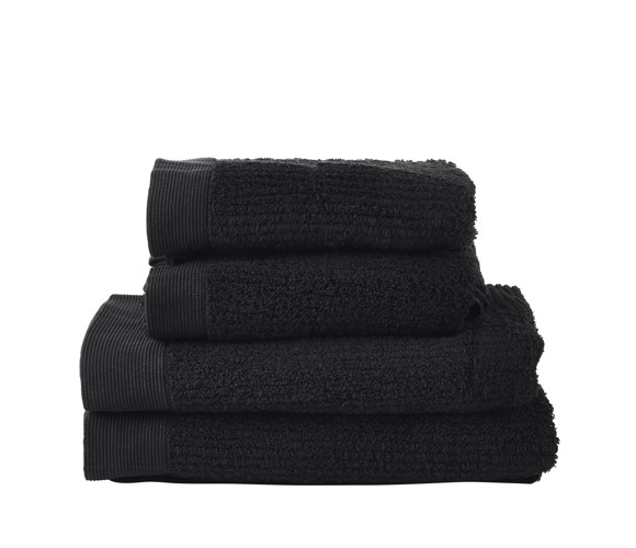 Zone - Classic Håndklæde Sæt - Sort