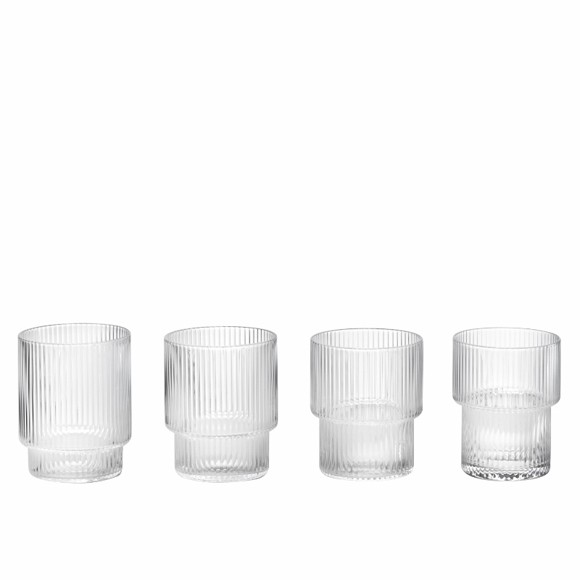 Ferm Living - Ripple Glass Set Of 4 - Clear (5438)
