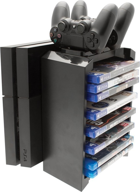 Venom 2-in-1 Games Storage Tower & Twin Charging Dock (PS4)