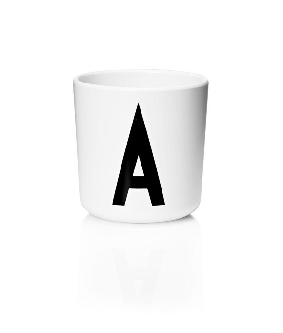 Design Letters - Personal Melamine Cup A - White (20201000A)
