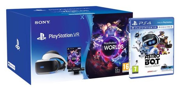 Sony PlayStation VR and PlayStation VR Worlds (PSVR) - Bundle /PS4  + Astro Bot