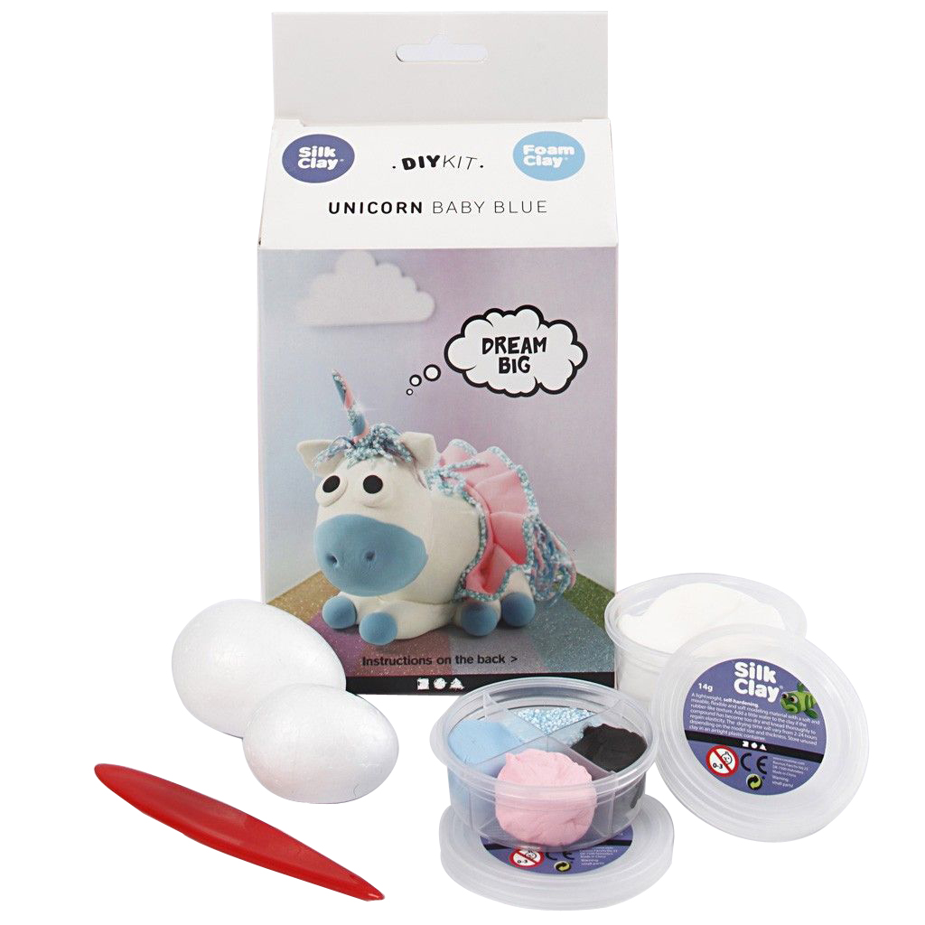 DIY Kit - Funny Friends - Einhorn - Blau