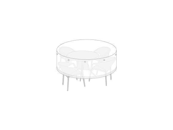 Living Outdoor - Cover For Garden Furniture Ø: 220 x 115 cm - Black (628748)