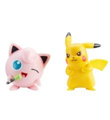 Pokemon - Figure Battle Pack - 5 cm - Jigglypuff og Pikachu