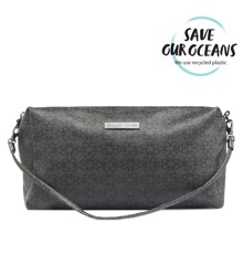 Gillian Jones 2-Compartments Cosmetic Bag w. GJ Signature - Black