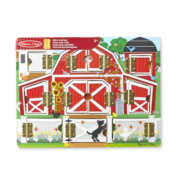 Melissa & Doug - Magnetic Hide & Seek Board - Farm (14592)