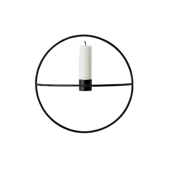 Menu - POV Circle Candleholder Small - Black (4811539)