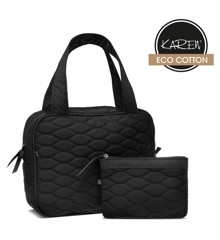 Karen -  2-piece Toiletry Bag set w. Quilt - Black
