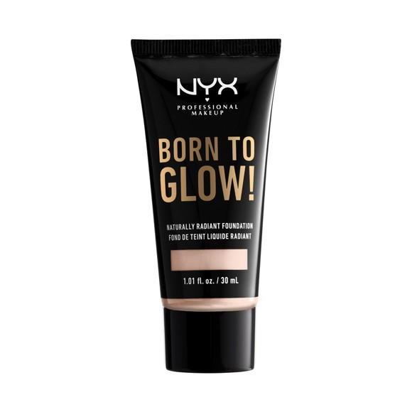 NYX Professional Makeup - Born To Glow Naturally Radiant Foundation - Light Porcelain