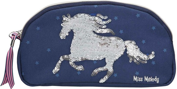 Miss Melody - Pencil Case with Sequins - Blue (0010276)