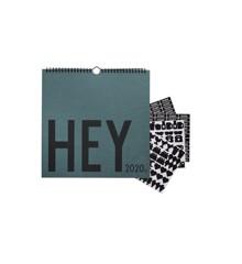 Design Letters - Hey Væg Kalender 2020 - Grøn