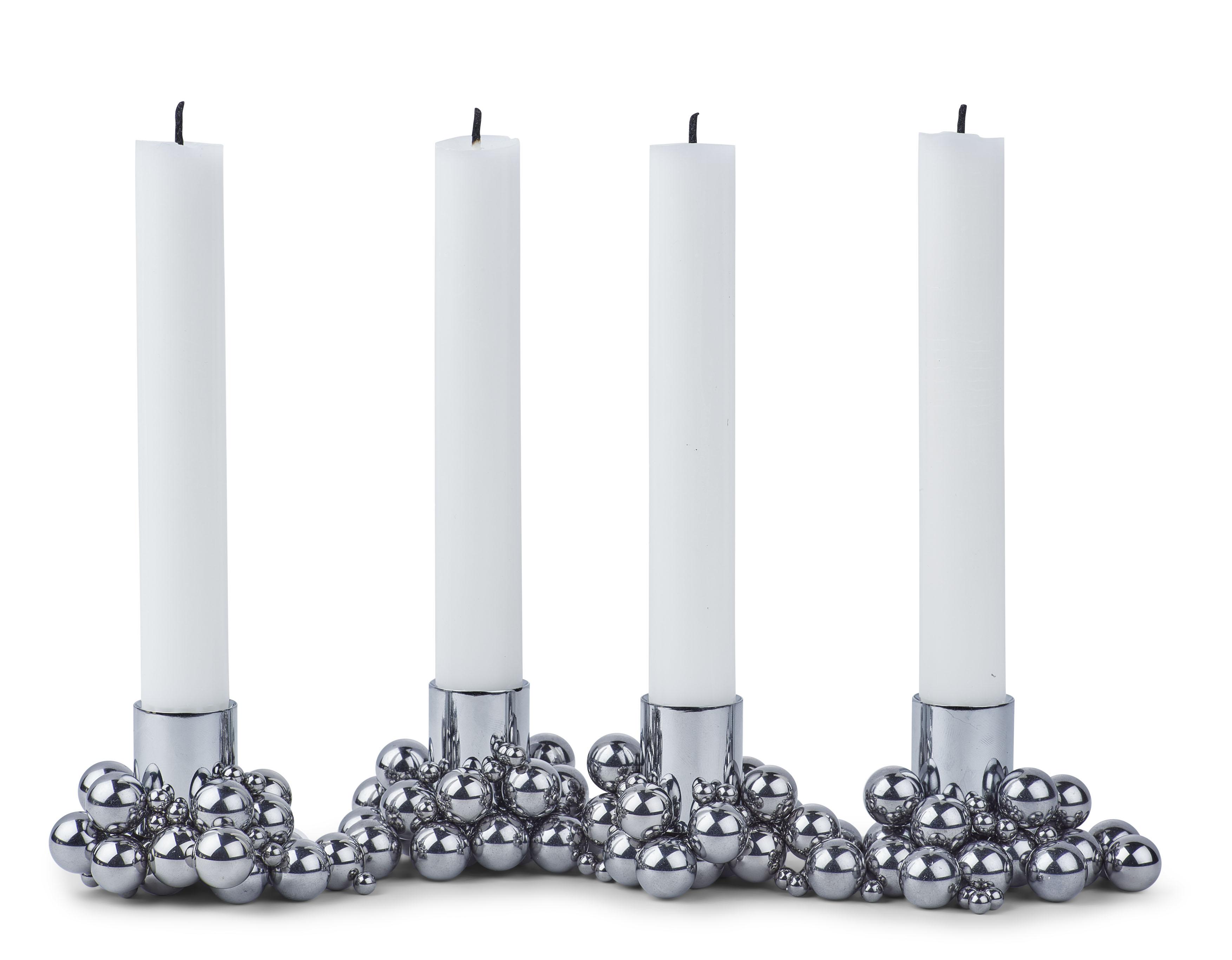 Gejst - Molekyl 4 - Chrom Kerzenständer (00042)