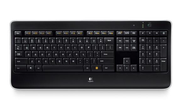 Logitech - Wireless Illuminated Keyboard K800 Nordic